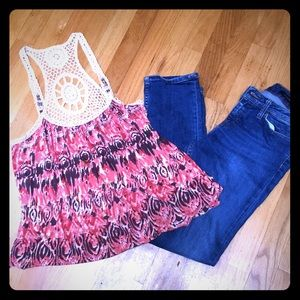 Super Cute Free People Embroidered Top!